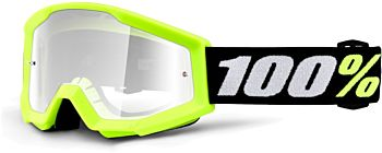 100% Mini Strata børne cross briller Neon - Clear Lens