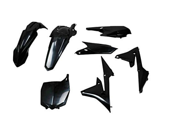 Yamaha Polisport Plastik Kit Sort