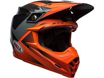Bell Moto-9 Flex cross hjelm Hound Orange Carbon