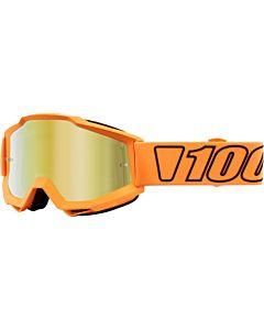 100% Accuri Cross Briller Luminari Orange med Guld Spejl