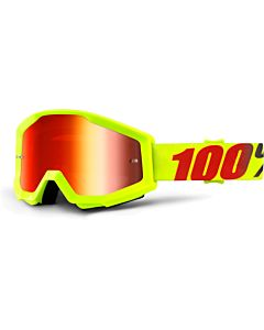 100% Strata Mercury - Mirror Red Lens Cross briller