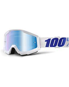 100% Strata Equinox - Mirror Blue Lens Cross briller