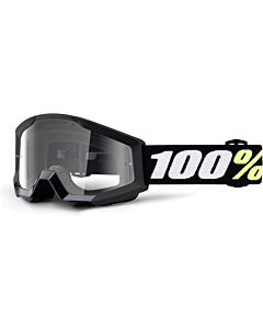 100% Mini Strata børne cross briller Sort - Clear Lens
