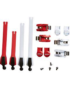 Fox Instinct strop/spænde kit rød/hvid