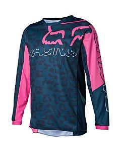 FOX YTH 180 skew børne cross trøje til piger-Blå-YXL