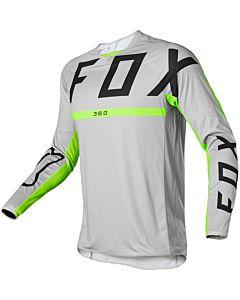 FOX 360 Merz Cross trøje-Lysegrå / Neon Gul-S