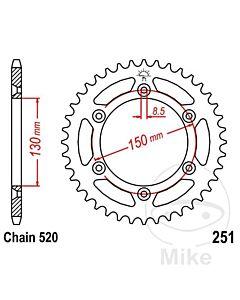 Bagtandhjul Stål Yamaha YZ 125, 250, 450