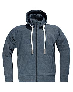 DIFI Downtown MC Hoodie Denim blå