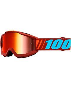 100% Accuri Cross Briller Dauphine/ Rødbrun med Rødt Spejl