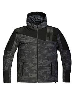 DIFI Jamie Softshell MC jakke Sort Camouflage